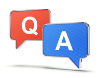 Question and answer speech bubbles Stock Photography