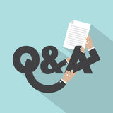 Question And Answer Typography Design. Royalty Free Stock Photography