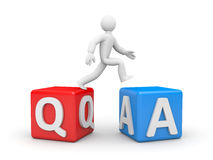 Question and Answers Stock Photography