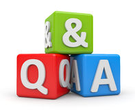 Question and Answers Royalty Free Stock Photos