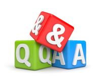 Question and Answers Royalty Free Stock Image