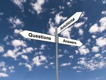 Question answers and solutions Royalty Free Stock Photo