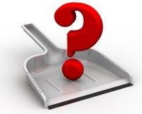 Question au sujet du nettoyage Photographie stock libre de droits