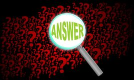 Question background zoom Stock Photos
