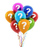 Question balloon concept 3d illustration. Question balloon 3d 3d illustration on white  background Stock Photography
