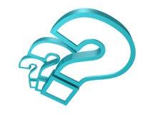 question blåa fläckar för bakgrund 3d white Fotografering för Bildbyråer