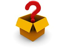 Question in box Royalty Free Stock Photo