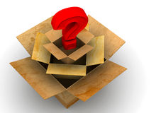 Question from boxes Royalty Free Stock Images