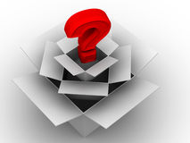 Question from boxes Royalty Free Stock Image