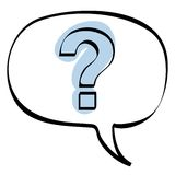 Question bubble icon vector. Illustration of a speech bubble with question mark + vector eps file Royalty Free Stock Photo