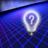 Question Bulb Royalty Free Stock Photography