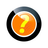 Question button royalty free illustration