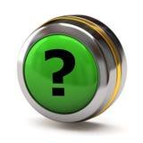 Question button stock illustration