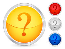 Question button Royalty Free Stock Photography