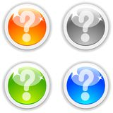 Question buttons. Stock Images