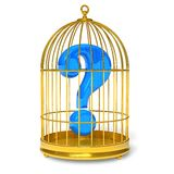 Question in cage Royalty Free Stock Photography
