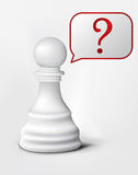 Question of Chess Pawn Royalty Free Stock Images