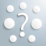 Question 7 Circles Infographic Stock Photos