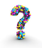 Question cmyk Stock Photo