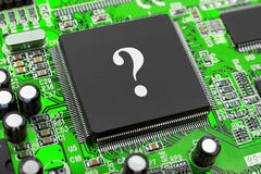Question on computer chip Stock Photo