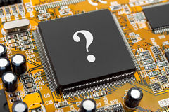 Question on computer chip Royalty Free Stock Photos
