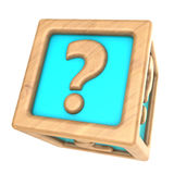 question cube Stock Photos