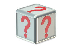 Question cube Stock Images
