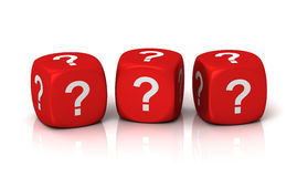 Question cubes concept 3d illustration Royalty Free Stock Photo