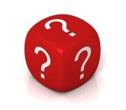 Question cubes concept  3d illustration Stock Photo