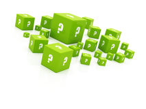 Question cubes illustration Stock Photography