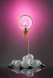 Question d'ampoule Photographie stock libre de droits
