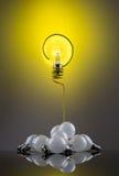 Question d'ampoule Photo stock