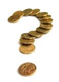 Question d'argent Photographie stock libre de droits