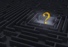 Question d'or au centre du labyrinthe illustration de vecteur