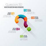 Question 3D Infographic. Vector illustration of dissecting question mark concept 3d infographic design element vector illustration