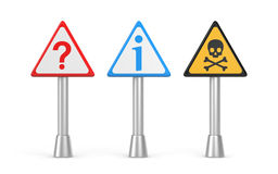 Question, danger and information sign Royalty Free Stock Photography