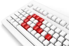 Question de clavier Photo stock