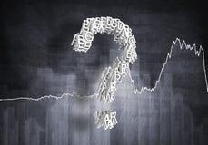Question de croissance financière, rendu 3d Images libres de droits