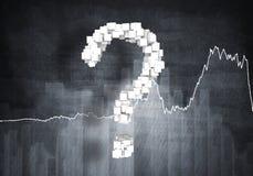 Question de croissance financière, rendu 3d Photo libre de droits