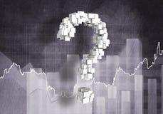 Question de croissance financière, rendu 3d Photographie stock