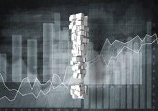 Question de croissance financière, rendu 3d Images stock