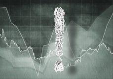 Question de croissance financière, rendu 3d Photos libres de droits