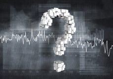 Question de croissance financière, rendu 3d illustration de vecteur