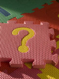question de puzzle Photographie stock