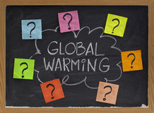 Question de réchauffement global Photo stock