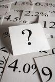 Question de taux d'intérêt Photographie stock