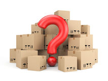 The question of delivery Royalty Free Stock Photo