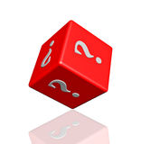 Question dice 3d. On white background Stock Photography