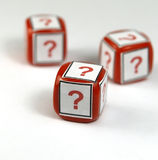 Question dice Royalty Free Stock Photo