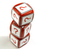 Question dice pile Stock Photography